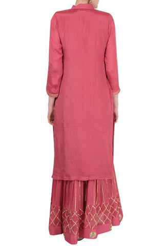 Peach Gharara Suit