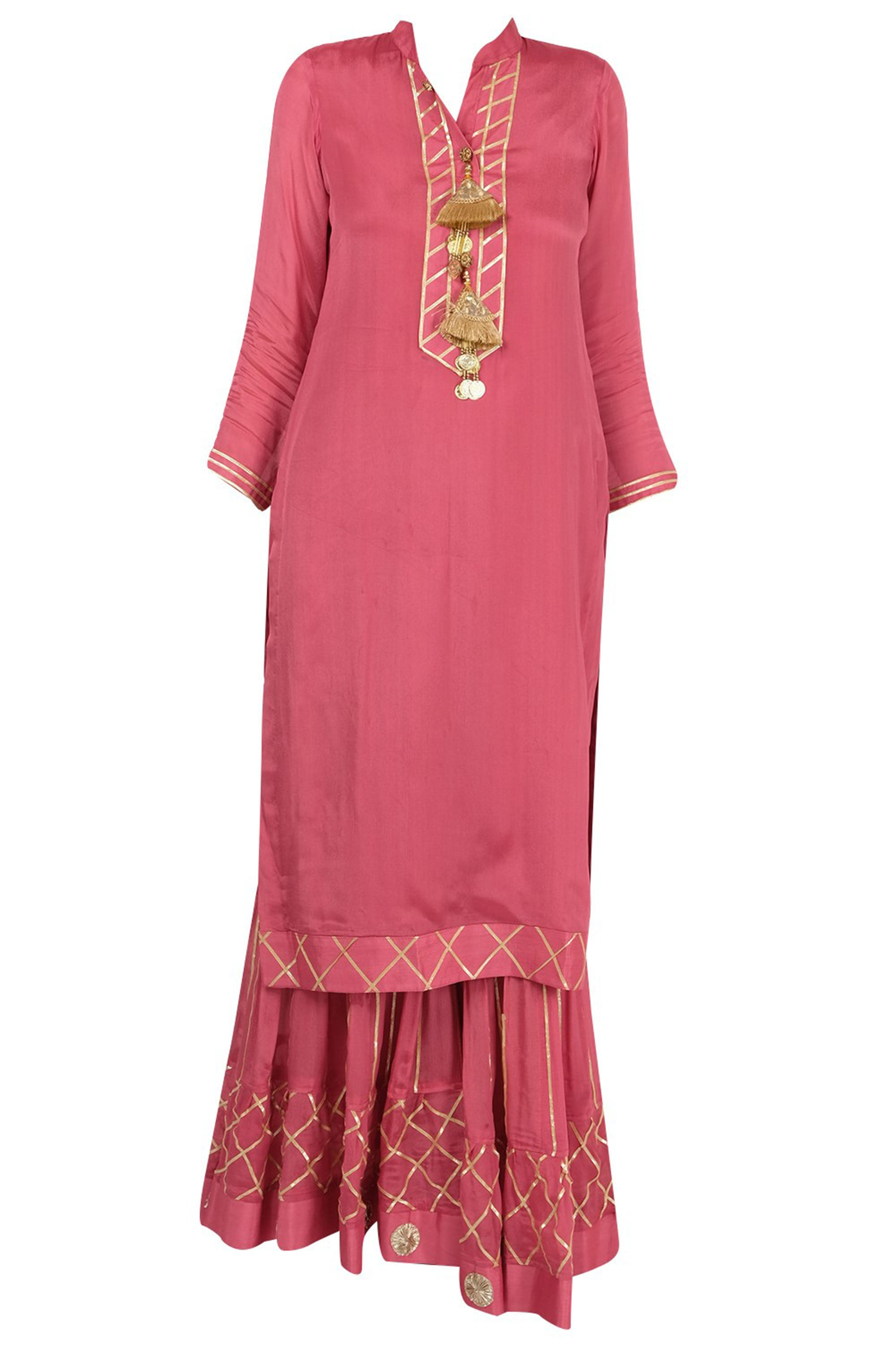 Peach Gharara Suit Full