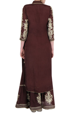 Coffee Brown Gharara Suit