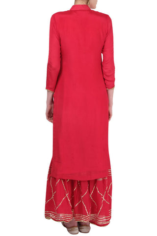 Red Gharara Suit