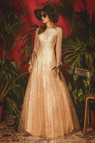 Peach La' Lotus Gown FRONT