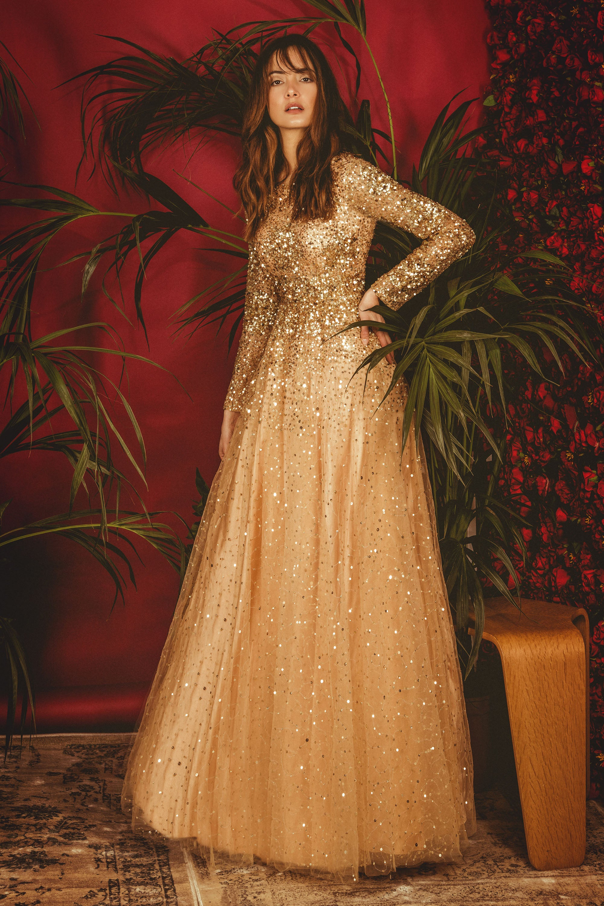 Gold La' Bilberry Gown FRONT