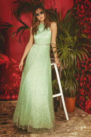 Mint Green La' Daisy Gown FRONT
