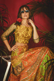 Multi-Colour La' Sunflower Lehenga CLOSE