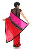 Silk Shock Wave Saree Back
