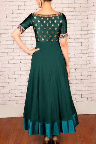 Dark Green Anarkali