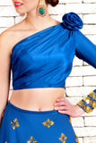 Blue Neoprene Lehenga CloseUp