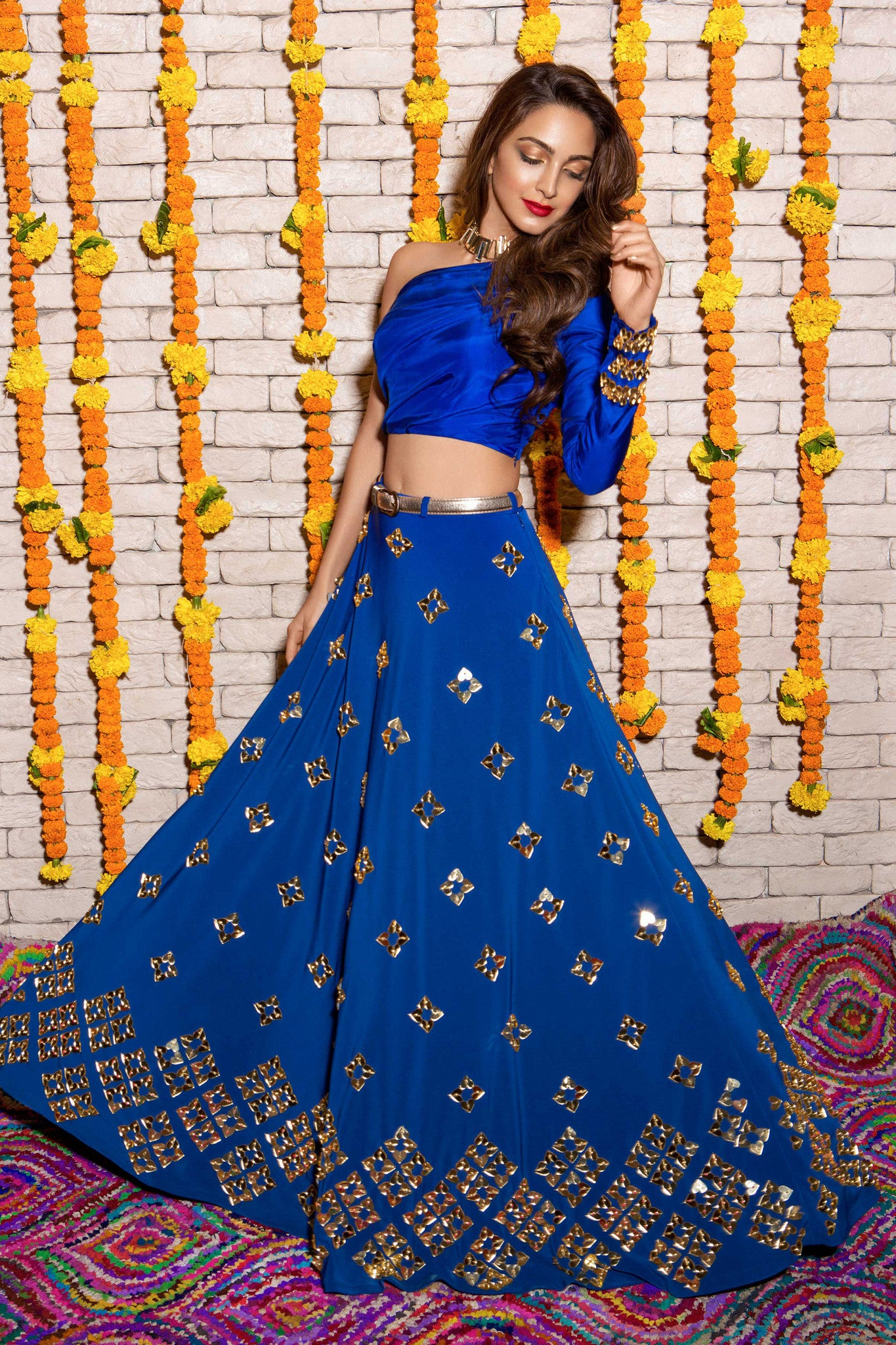 Blue Neoprene Lehenga Full