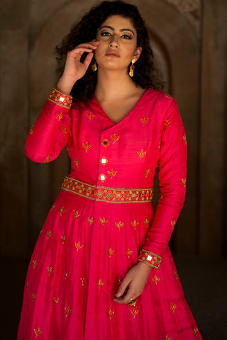 Hot Pink Angrakha Jacket