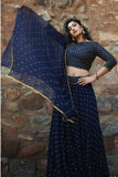 Midnight Blue Lehenga Set
