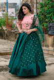 Emerald Green Lehenga Set
