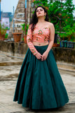Emerald Green Lehenga Set SIDE