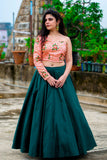 Emerald Green Lehenga Set FRONT