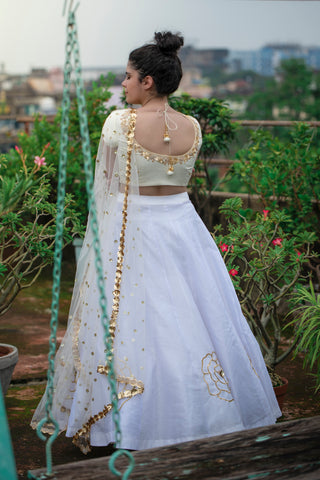 Shades Of White Lehenga