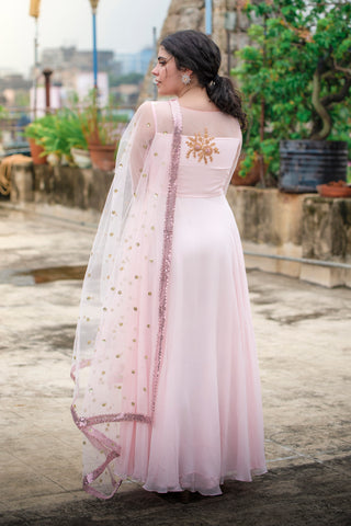 Powder Pink Anarkali