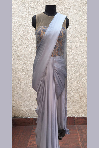 Grey Saree Gown