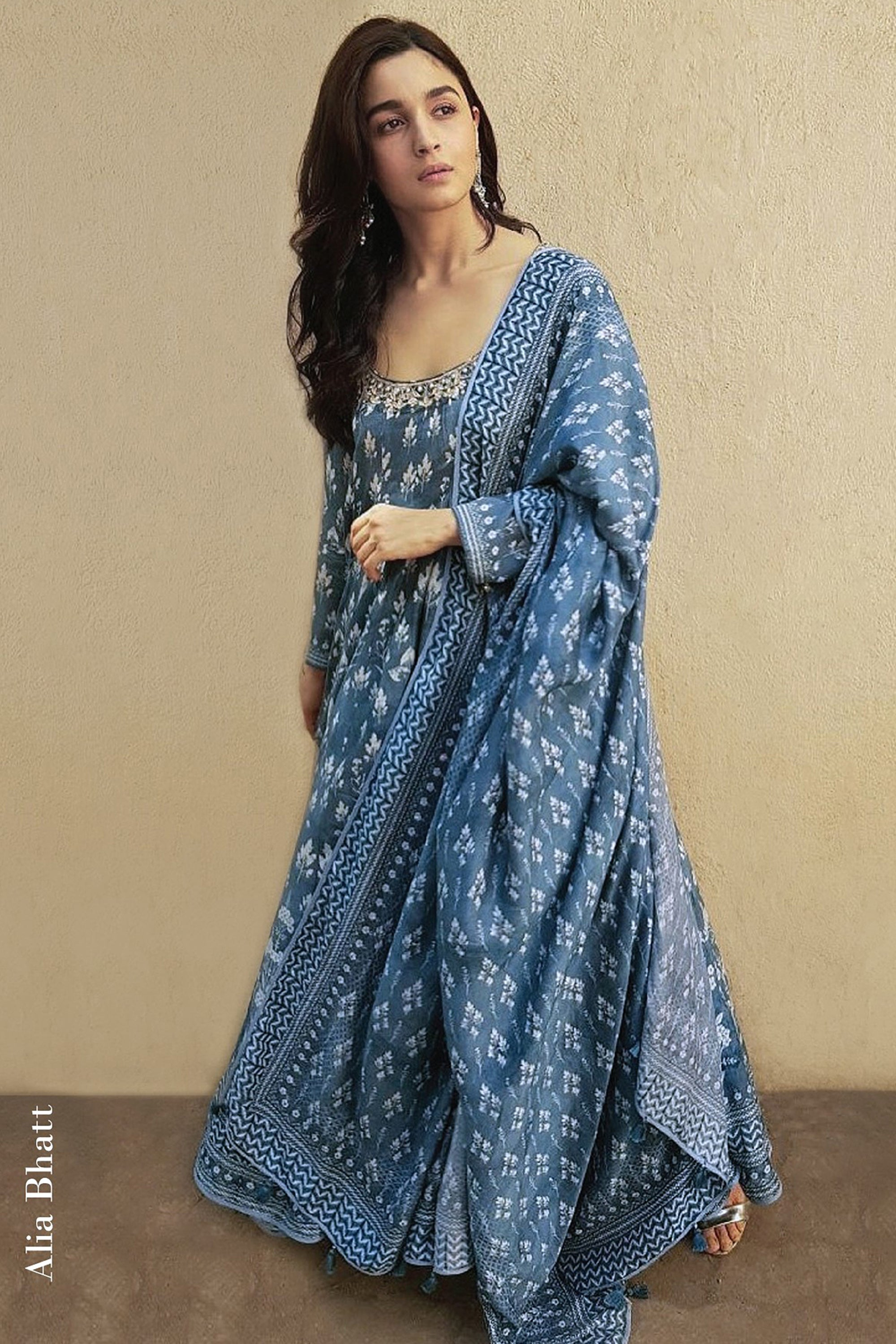 Blue Kairavi Suit As sen On Alia Bhatt