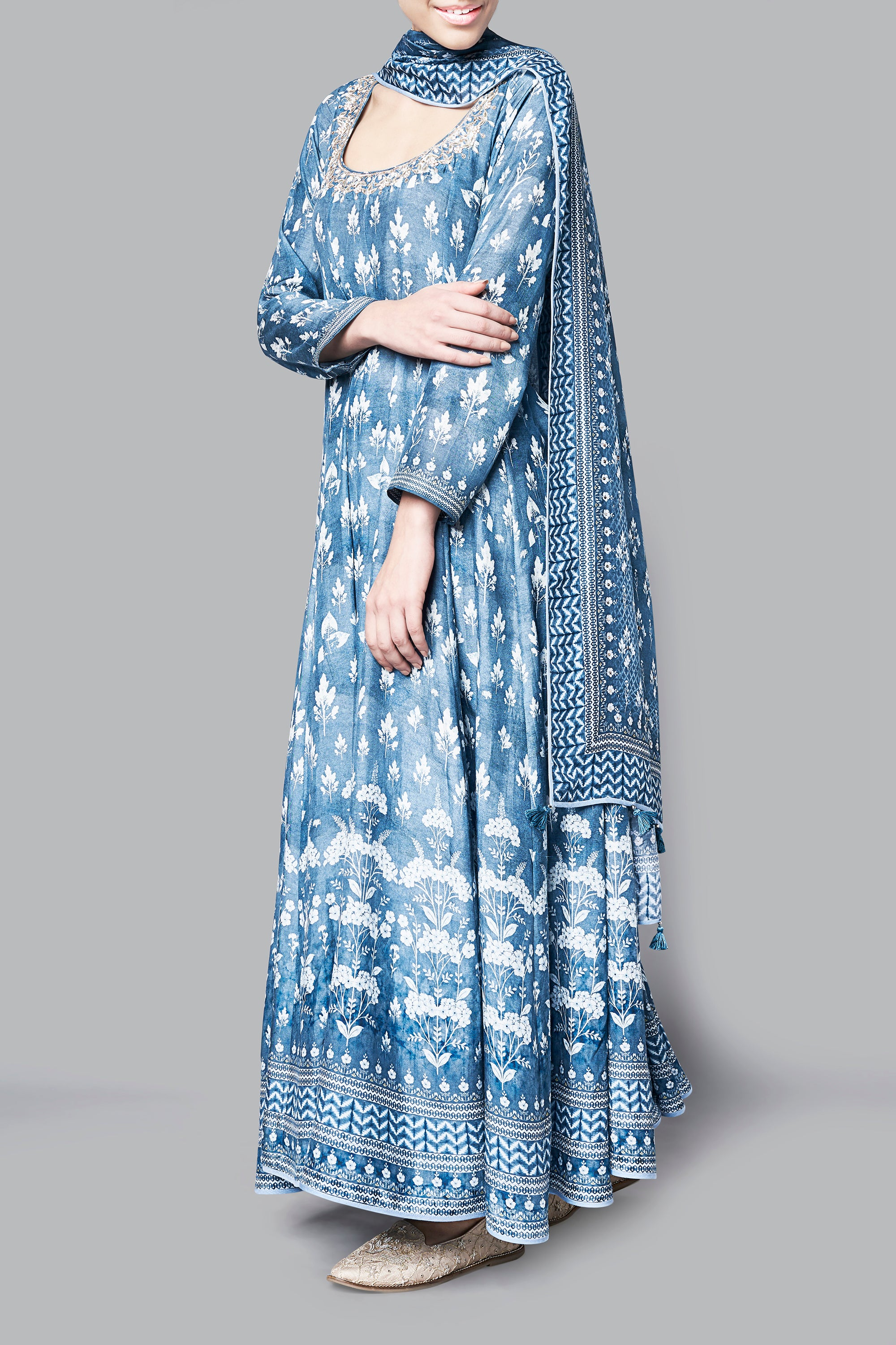 Blue Kairavi Suit Side