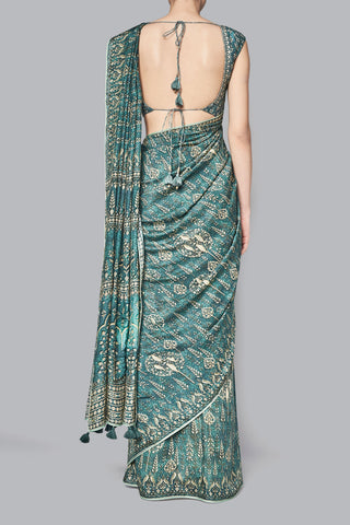 Green Peher Saree