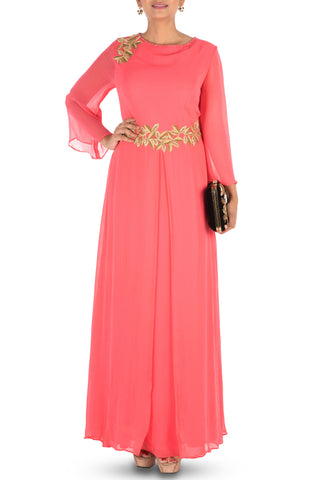 Bright Peach Long Tunic Front