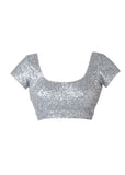 Seema Khan Blouse Silver