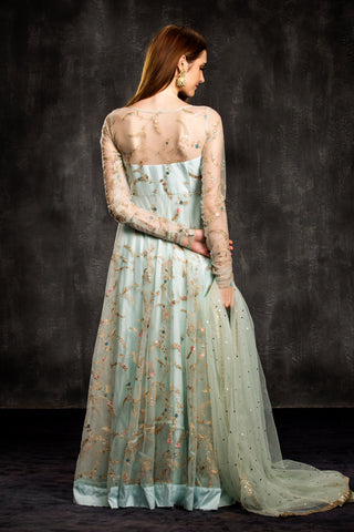 The Blue Aqua Mahira Anarkali
