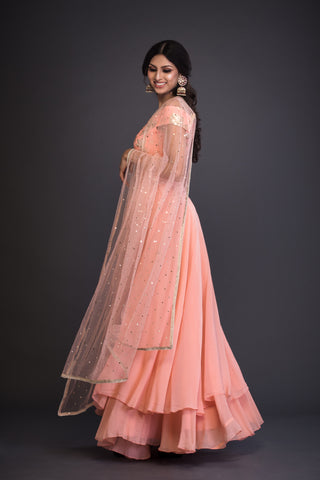 The Peach Blake Lehenga Set