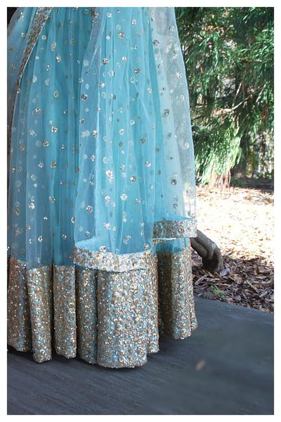 The Ice Blue Gypsy Lehenga Set CLOSE
