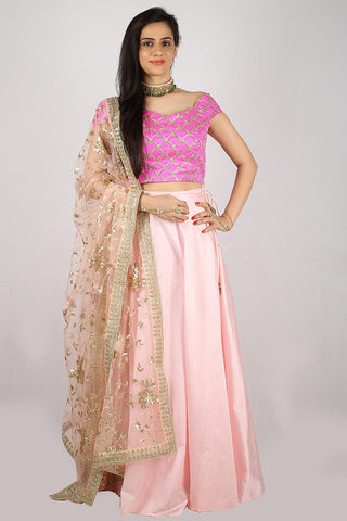 The Fuchsia Blake Lehenga Set Front