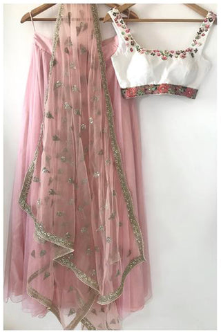 The Peach Sophia  Lehenga Set