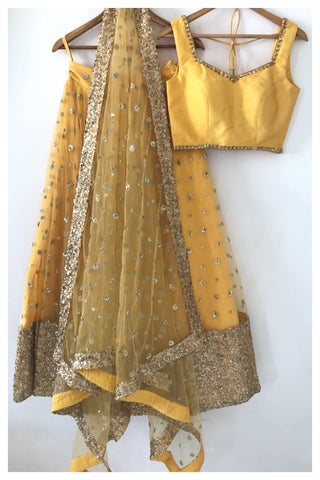 The Yellow Gypsy Lehenga Set