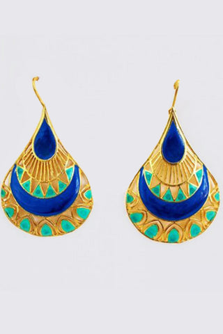 TRIBAL TWIST EARRINGS BLUE