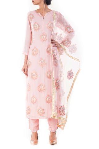 Carnation Pink Suit Set Front