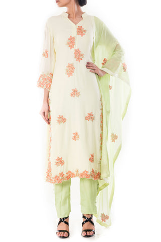 Summer Resort Kurta With Cigarette Pants Front