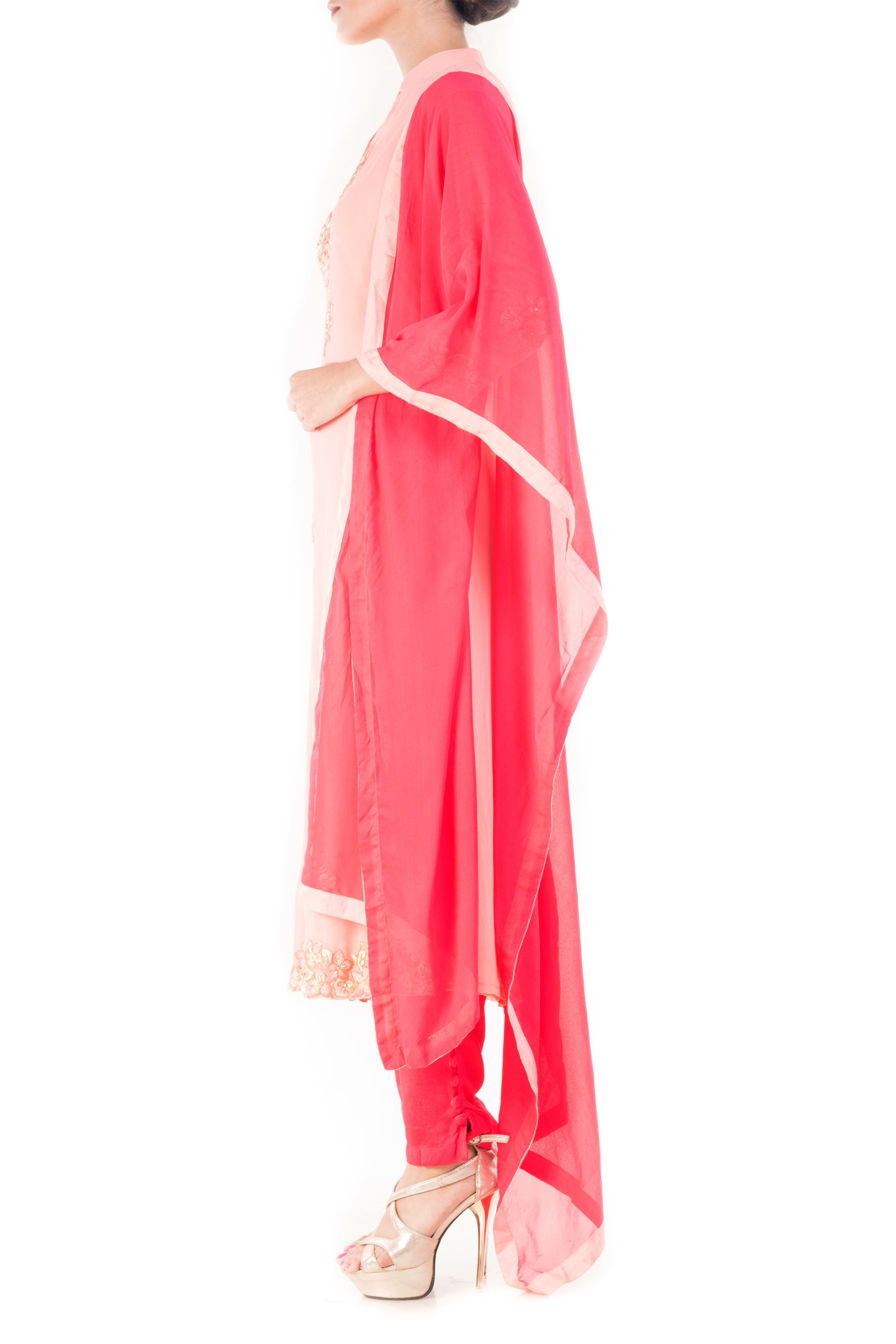Carnation Pink Salwar Suit Side