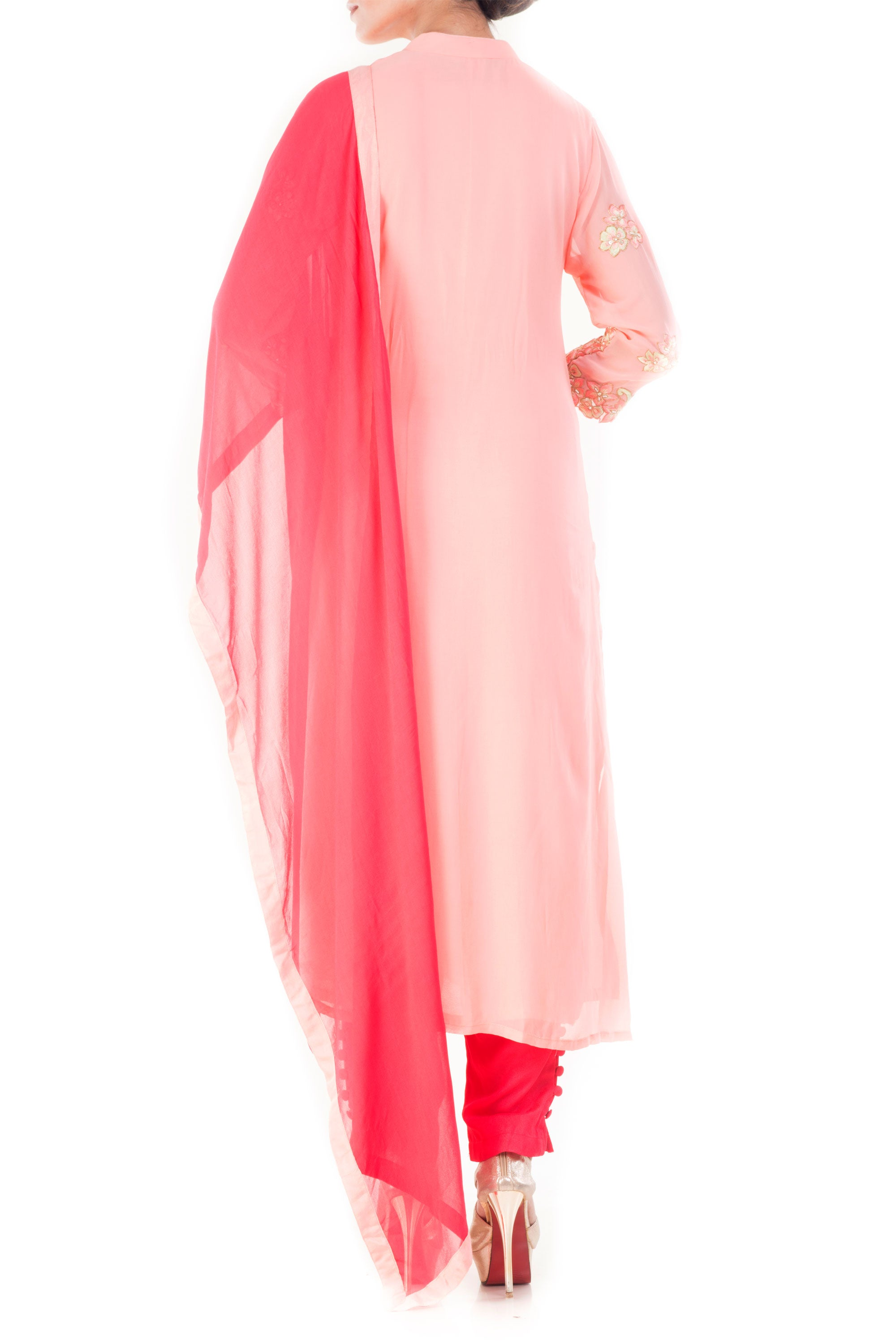 Carnation Pink Salwar Suit Back