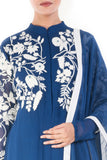 Royal Blue & White Palazzo Set Closeup