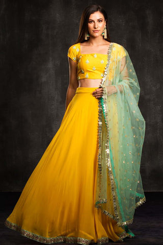 The Yellow Cabo Lehenga Set Front