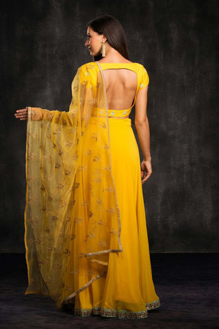 The Yellow Muai Lehenga Set