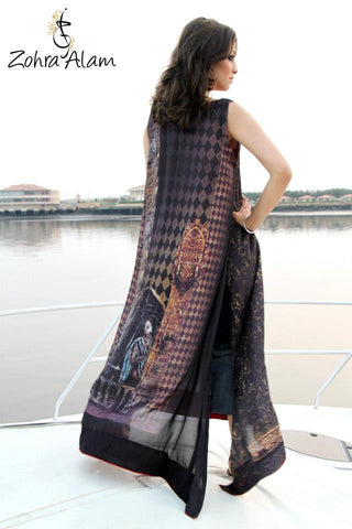 Black Jewel Printed Silk Tunic