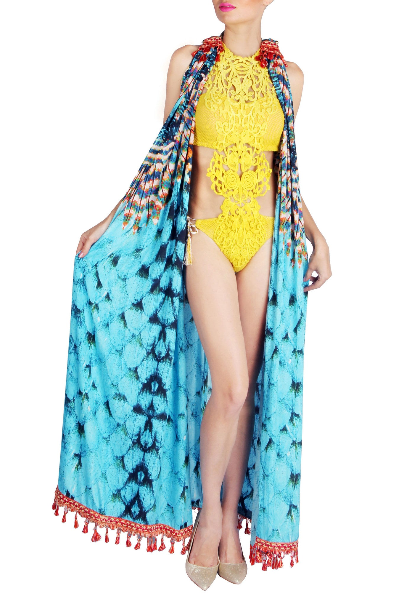 Tassel Cape Gown Close Up