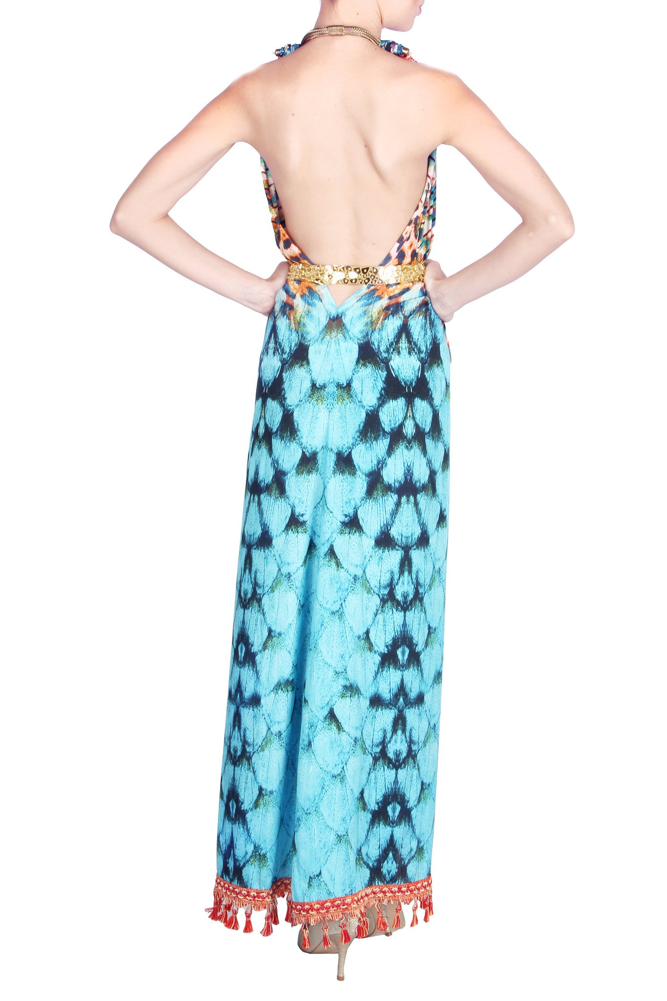 Tassel Cape Gown Back