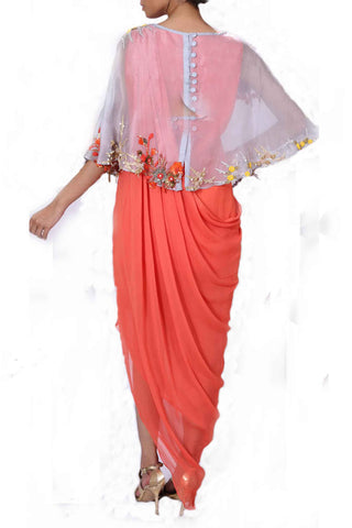 Tangerine Cape Gown