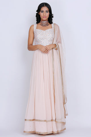 Baby Peach Anarkali Set
