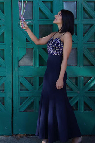 Midnight Blue Fitted Gown