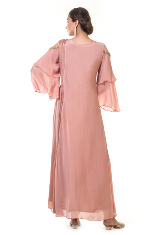 Pink Gold Double Layer Gown