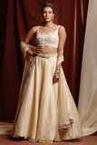 Light Gold & Ivory Tara Lehenga FRONT