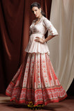 Red Noor Lehenga SIDE