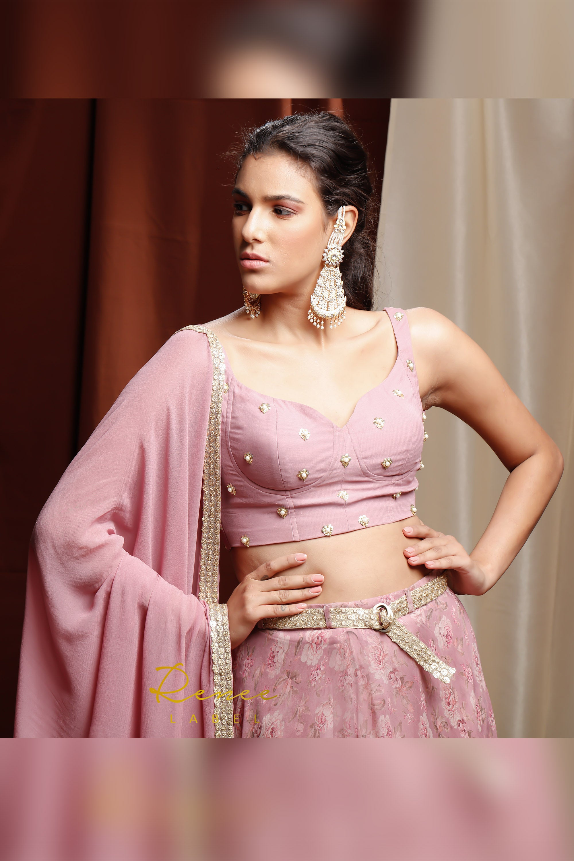 Mauve Roshana Lehenga CLOSE