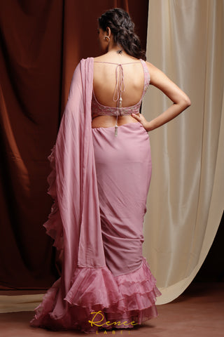 Mauve Amyra Saree Set